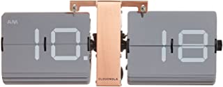 Cloudnola Flipping Out Wall and Tabletop Flip Clock, Grey and Copper, Battery Operated Digital Display