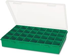 tayg 70105 etui met vaste scheidingswanden, nr. 13-32, groen, transparant