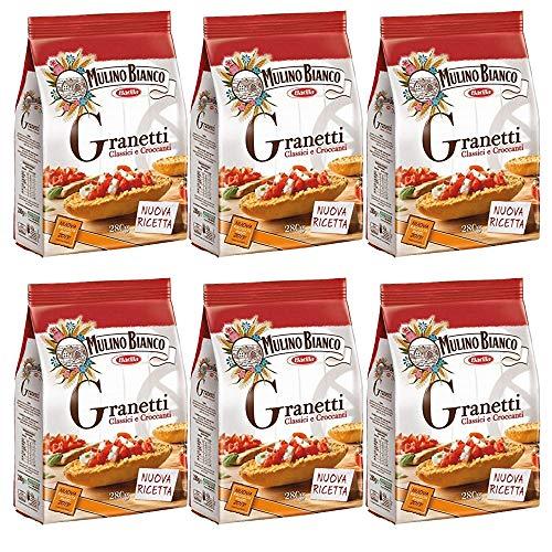 6x Mulino bianco Granetti Knusper Brot für Bruschetta Croutons 290g aus italien