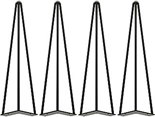 アイアンレッグ テーブル脚 ダイニングテーブル 脚 コンピューターデスク脚 高さ調整 家具パーツ 置き換え足 消し 傷・滑り防止 DIY 金具 座卓 用 4本セット (ブラック,ホワイト,ゴールデ,シルバー)