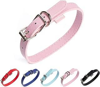 AYRSJCL Rosa Perrito del Perro L arn/és de Terciopelo y Correa de Cuero para el Collar de Perro peque/ño Gato Cachorro Chihuahua Rosa Pet Products