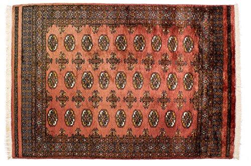 Lifetex.eu Teppich Buchara Pakistan ca. 125 x 205 cm Rot handgeknüpft Schurwolle Klassisch hochwertiger Teppich