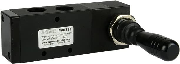 Spring Return Lever Pneumatic Air Control Valve 5 Port 4 Way 3 Position 3/8