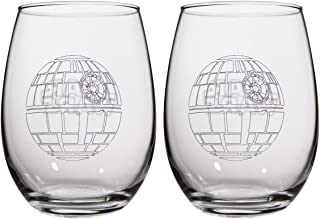 Star Wars Collectible Wine Glass Set (Death Star)