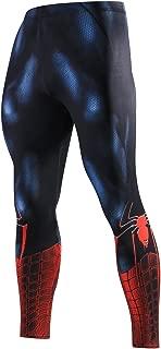 Compression Pants Elastic Running Tights Mens Sports Spiderman Superhero Printing Dry Leggings