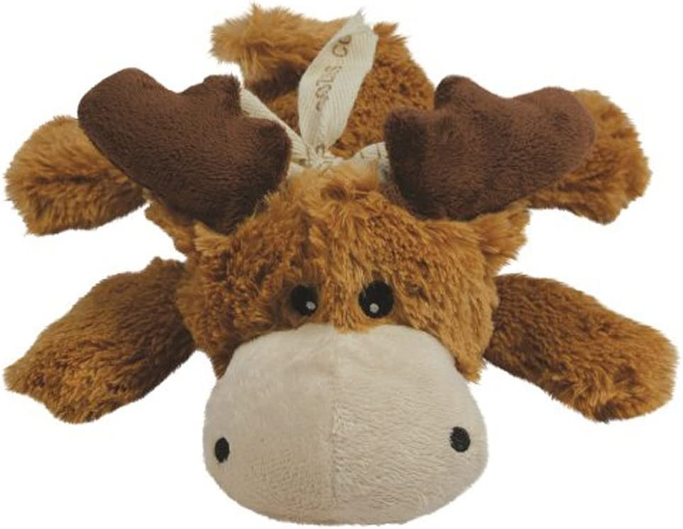 KONG Cozie Marvin the Moose, Medium Dog Toy, Brown [2-Pack]