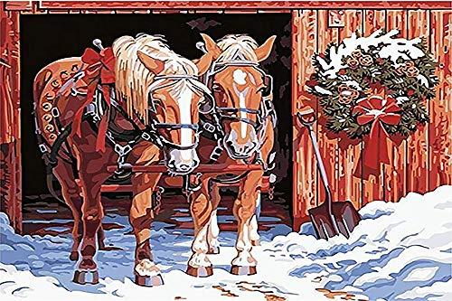 N/R Puzzels 1500 Stukken Voor Volwassenen,Paard, Klassieke Puzzel Speelgoed Cadeau, Geef Kinderen Geweldige Educatieve Geschenken, 52x38Cm