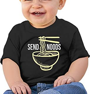 Send Noods Ramen Noodles Bodysuit Unisex Toddler Short Sleeves T-Shirt Romper