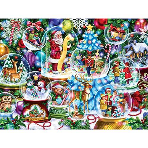 5D DIY diamante pintura Navidad cuadrado completo diamante bordado Santa Claus mosaico punto de cruz decoración del hogar