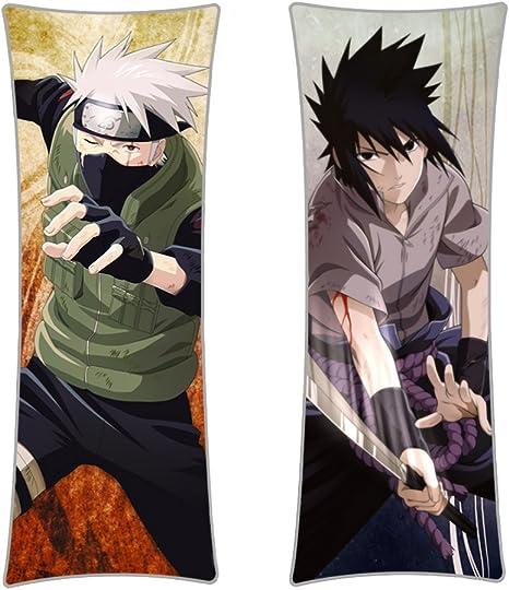 CoolChange Funda de Almohada de Naruto, 150x50cm, Tema: Kakashi/Sasuke
