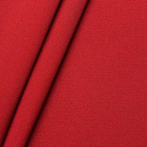 STOFFKONTOR Outdoor Stoff Markisenstoff - Outdoorstoff Meterware wasserabweisend - Sonnenschutz Stoff Blickdicht und farbecht - Rot