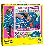Creativity for Kids Deluxe Easy Weave Fleece Blanket Making Kit - Makes 1 No Sew Blanket