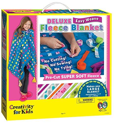 West Design West DesignCFK1300 Creativiteit voor kinderen Junior Selectie Deluxe Gemakkelijk Weave Fleece Deken Grote Kit, Multi-Color