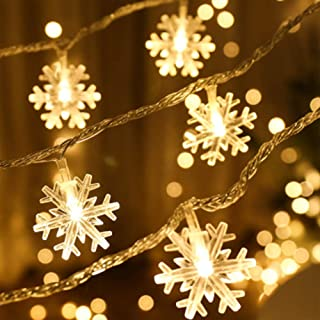 Luces Navidad,6M 40 LED Blanca Cálida Luces de Cadena de Hadas Impermeable,Extensible para Interiores,Fiesta de Boda,Árbol de Navidad,Año Nuevo,Decoración de Jardín