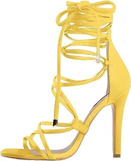 88478df9f41 Amazon.com: Yellow Women's Heeled Sandals