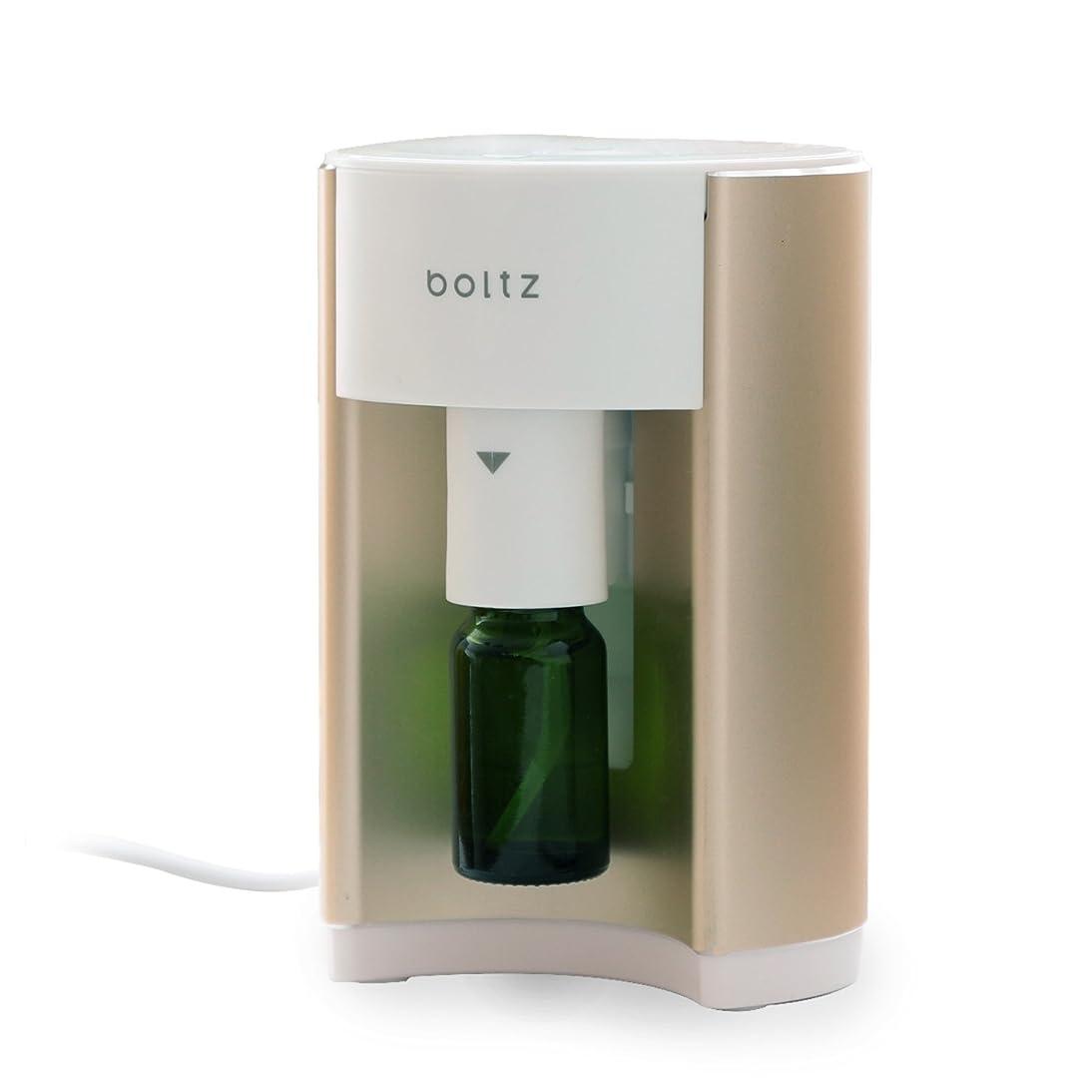 紀元前ガイド対処boltz アロマディフューザー アロマバーナー ルームフレグランス 専用ボトル付 タイマー付き ゴールド