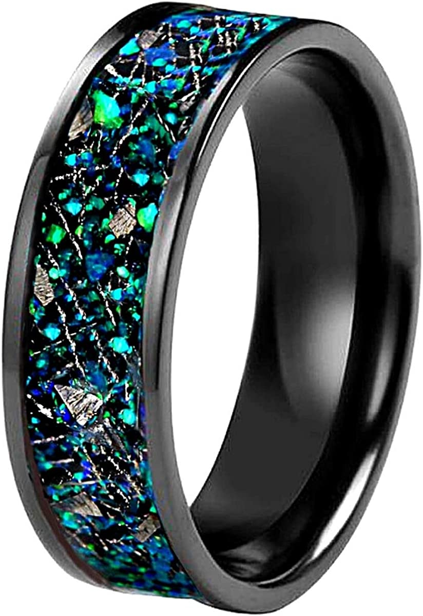Kingsway Jewelry REAL Seattle Mall METEORITE Award Ring Natural Band with B Wedding