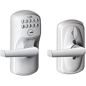 Bright Brass Schlage FE595 CAM 505 16-234 10-027 Camelot by Accent Keypad Lever with Flex Lock