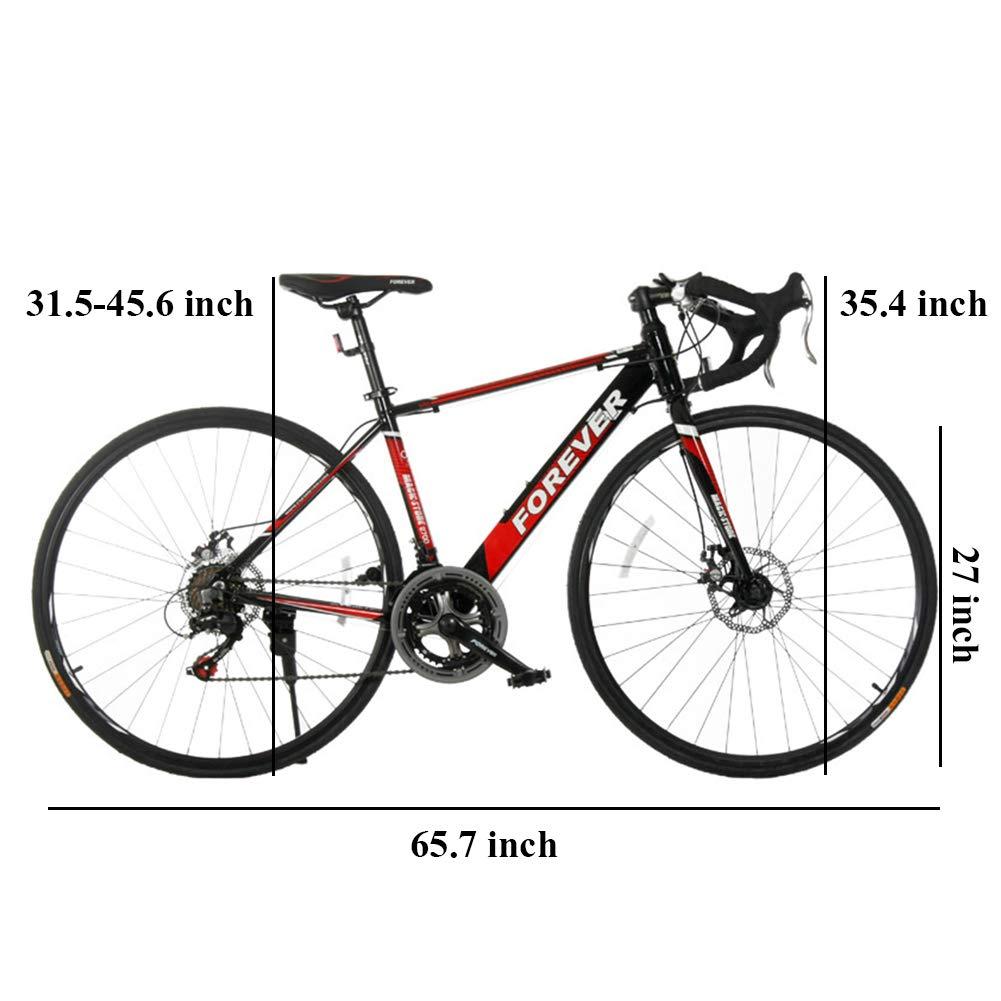 NENGGE 14 Velocidades Bicicleta de Carretera, 27 Pulgadas Adulto ...