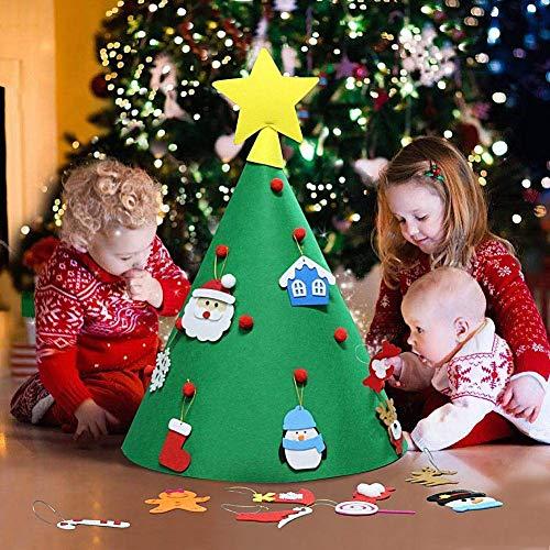 Lsv-8 18pcs sombrero de Navidad DIY juguetes para niños hechos a mano tridimensional árbol de Navidad