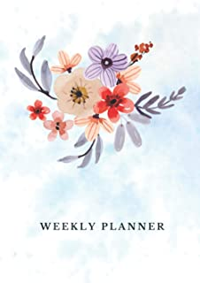 Weekly Planner: Start Anytime Undated Day / Week Organizer, 225 Pages, Vision Board & Goal-setting, Expense Tracker, Recor...