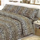 Smartsupershop Tagesdecke Sommer Single Leopard gefleckt + 1Kissenhülle GRATIS aus Baumwolle Jacquard Piquet Made in Italy–Geschenkidee unverlierbaren Angebot.