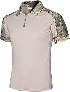 Tactical Combat Short Shirt Military Camo Short Sleeve T-Shirt for Airsoft Paintball