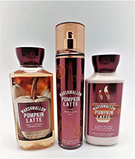 Marshmallow Pumpkin Latte - Daily Trio Gift Set Full Size - Shower Gel, Fine Fragrance Mist and Super Smooth Body Lotion – (2019 Edition)
