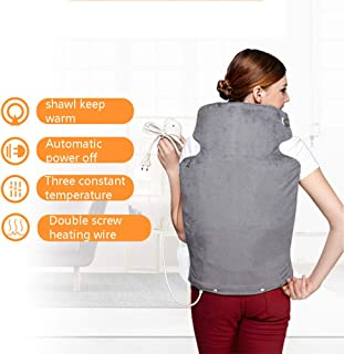 JMung Electric Heating Pad Neck Shoulder and Back Hot Compress Heating Physiotherapy Vest Fast-Heating 3 Temperature Settings Auto Shut Off