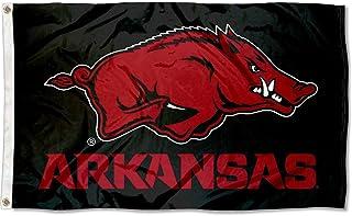 College Flags & Banners Co. Arkansas Razorbacks Black Flag