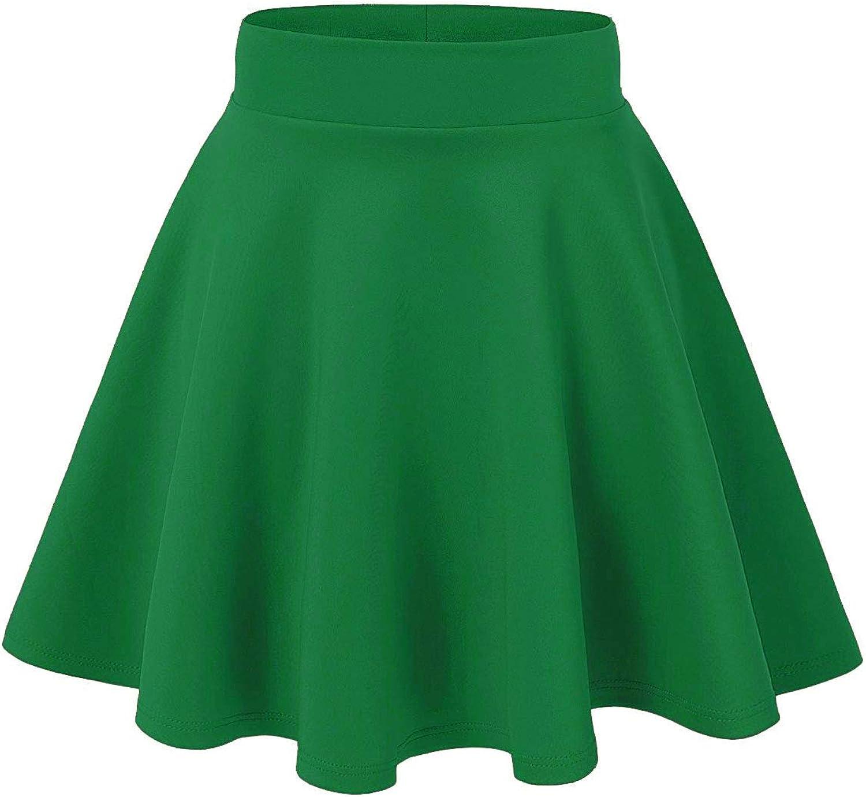 AG2Ggifts Women's Basic Versatile Stretchy Flared Casual Mini Skater Skirt(S-3X)