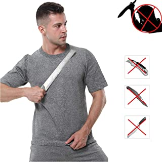 Stab Proof Vest, Elastic Tactical T-Shirt, Special Fiber Plates Protection for Body, Men and Women Police,M