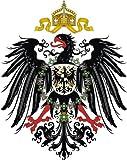 Michael & Rene Pflüger Barmstedt - 8,4x8,4 cm - Premium Autoaufkleber Deutscher Kaiser Adler Aufkleber Sticker Auto Motorrad
