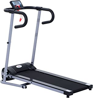 comprar comparacion HOMCOM Cinta de Correr Plegable y Eléctrica de 500W para Fitness 1-10Km/h con Pantalla LCD y Carga Máx. 150kg Negro y Gris