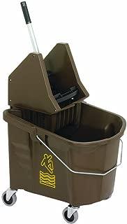 Continental 335-37BZ Bronze 35 Quart Splash Guard Mop Bucket with SW7 Down-Press Wringer