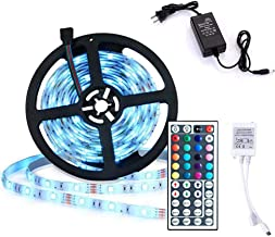 LED Light Strip 5 Meters 150LEDs 5050SMD RGB LED Strip Full Kit with Remote Control and Power Supply