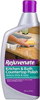 Rejuvenate Kitchen & Bathroom Countertop Polish – Brings Back Shine and Luster to All Kitchen and Bathroom Countertops in ...