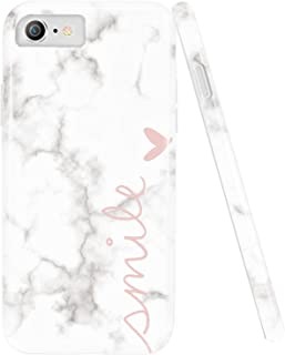 iPhone 7 Case,iPhone 8 Case,DOUJIAZ Marble Design Anti-Scratch &Fingerprint Shock Proof Thin Non Slip Silicone Hard Protective Cover for iPhone 7/iPhone 8 iPhone 6/ iPhone 6s -Smile