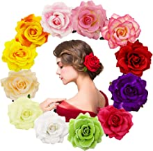 Diawell Orchidee Haarblume Haarclip Haarspange Blume Bl/üte Ansteckblume Haarschmuck