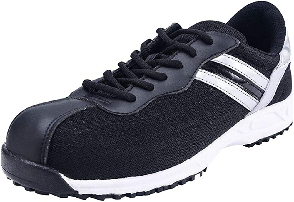 DDTX SBP Breathable Safety Shoes Anti-Smash Anti-Puncture Lightweight Steel Toe Safety Sneakers Lace-up Black