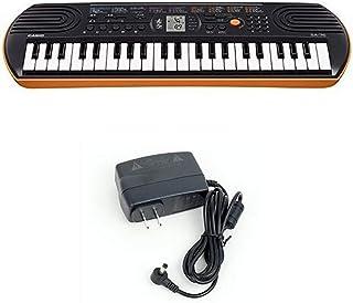 Casio SA76 44 Keys 100 Tones Keyboard bundle with Casio Powe