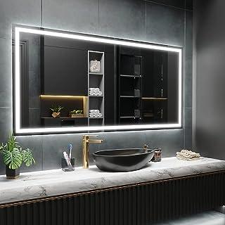 ARTTOR LED Miroir Mural Salle de Bain et WC - Carré et Rectangulaire - Différentes Variantes de la Couleur Claire et de To...