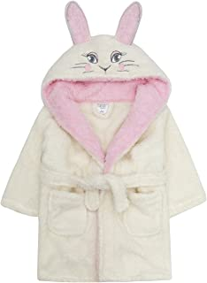 28cb580dc6 MiniKidz Children s Girls Novelty Bathrobe (Ages 2-6 Years) Fleece Hooded  Bunny Themed