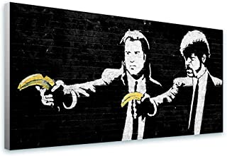 Alonline Art - Pulp Fiction Banana by Banksy   print on canvas   Ready to frame (synthetic, Rolled)   40