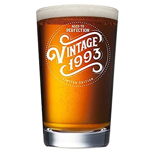 1993 26th Birthday Gifts For Women And Men Beer Glass