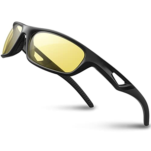 8d3783773041 RIVBOS Polarized Sports Sunglasses Driving Glasses Shades for Men TR90  Unbreakable Frame for Cycling Baseball RB831