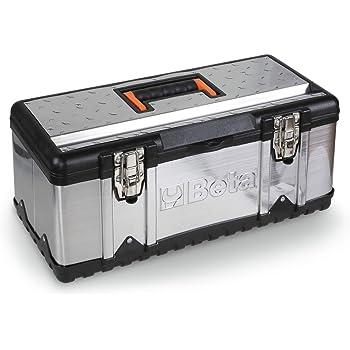 Beta CP17 - Caja de herramientas de acero inoxidable con bandeja: Amazon.es: Bricolaje y herramientas