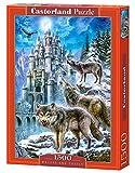 Castorland Wolves and Castle 1500 pcs Puzzle - Rompecabezas (Puzzle Rompecabezas, Fauna, Niños y Adultos, Lobo, Niño/niña, 9 año(s))