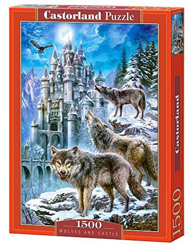 Wolves and Castle 1500 pcs Puzzle   Rompecabezas (Puzzle Rompecabezas, Fauna, Niños y Adultos, Lobo, Niño/niña, 9 año(s))