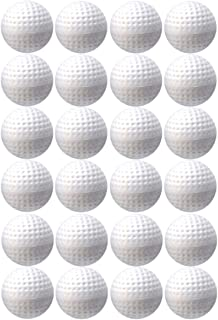 TOYMYTOY 24pcs Plastic Golf Balls Game Toy Balls Indoor Outdoor Practice Balls for Kids Children Golfer (White)